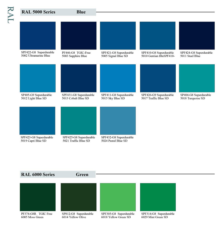 RAL Stock Colors - Erie Powder Coatings